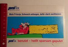Aufkleber/Sticker: Pro fix wischtuch System mein Prinzip Schwach (190317133)