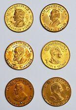 6 Medaillen Messing Präsidenten der USA Pierce Taylor Harrison Truman Wilson