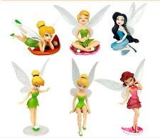 Disney Tinkerbell Figure Bell Tinker Fairies Figures Set Fairy 6PCS Doll Lot New