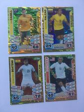 Match Attax 2014 World Cup Cahill Falcao Boateng Donovan USA Shiny Trading Cards
