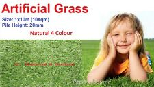 20mm 10 SQM Artificial Grass Synthetic Turf Flooring Fake Lawn Natural 4 Color
