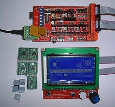3D Printer Kit - Mega 2560+RAMPS 1.4+5x A4988 Driver+Display ,RepRap UK Seller