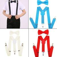 Baby Kid BOY Girl Classic Bow Tie Elastic Braces Suspenders Set beautiful design