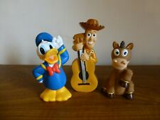 Disney Store Donald Toy Story Woody and Bullseye Horse Bath Toy Figures