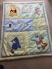"""Disney Winnie the Pooh Baby Alphabet Toddler Quilt Blanket Appliqued 35"""" x 44"""""""