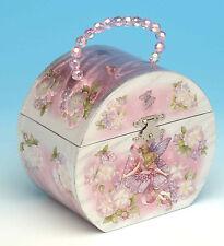 Girls Ballerina Jewellery Music Musical Box Fairy Beaded Handle Flower girl gift