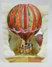 HOT AIR BALLOON all occasion Greeting Card 3D Swing Card by Santoro Graphics 137