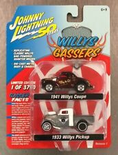 NEW JOHNNY LIGHTNING WILLYS GASSER 2 PACK 1941 WILLYS COUPE & 1933 WILLYS PICKUP