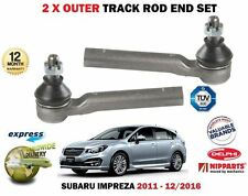 FOR SUBARU IMPREZA 1.6 FB16 1600CC 2011->  2X OUTER STEERING TRACK ROD END SET