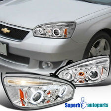 2004 2007 Chevy Malibu Led Halo Chrome Projector Headlights Clear Specd Tuning Fits 2005 Chevrolet Ls