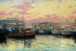 Thomas Kinkade Fisherman's Wharf San Francisco S & N With COA # 416 / 2750
