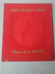 BERTRAM MILLS CIRCUS - OLYMPIA LONDON - 1955 56 - ILLUSTRATED GUIDE BOOK - EPHEM