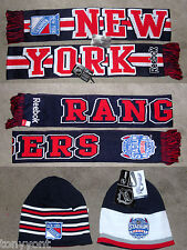 NY Rangers Stadium Series 2014 Reversible Winter Hat & Scarf Set Reebok NEW NWT