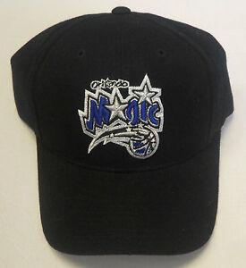 NWT NBA Orlando Magic Reebok Black Velcroback Curve Brim Cap Hat OSFA NEW!
