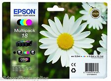 Genuine Epson T1806 18 4-Ink Multipack for Expression Home XP-212 XP-312 XP-412