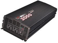 Premium 2000 Watt Power Inverter/ Convert 12 Volt DC to 110Volt AC NEW