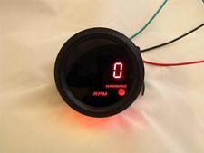 """2"""" Digital Tachometer Gauge Black with Red LED 0-9,999 rpm"""