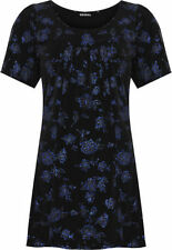 Polyester Short Sleeve Floral Plus Size T-Shirts for Women