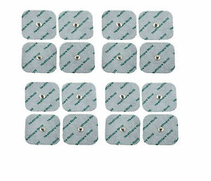 16 SQUARE STUD TENS ELECTRODE PADS 5cm x 5cm 3.5mm Stud