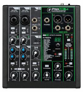 Mackie ProFX6v3 Mischpult 6-Kanal Mixer 2 Mikrofoneingänge 2x4 USB Interface