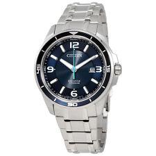 Citizen Ti+IP Blue Dial Mens Titanium Watch BM6929-56L