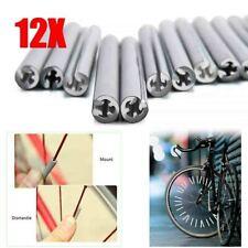 12pcs Cycling Wheel Spoke Reflector Bike Bicycle Reflective Mount Clip Tubes Kit