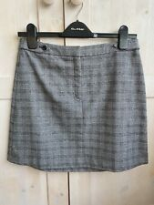 Banana Republic Grey Check Paid Skirt 2 Petite