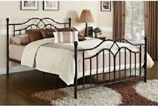 Metal Bed Frame With Headboard And Footboard Queen Size Modern Bronze Tokyo Dhp