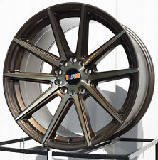 18X9.5 +38 F1R F27 5X114.3 5X120 BRONZE WHEELS Fits Bmw E90 F30 325 328 330 335I
