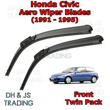(91-95) Honda Civic Aero Wiper Blades / Front Flat Blade Wipers Hatchback Saloon