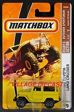 2009 Matchbox #89 '68 Toyota Land Cruiser (FJ40) SULFUR YELLOW/MOC