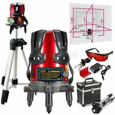 8 line Rotary Laser Line Beam Leveling Gradienter Laser Levels Meter Tripod Kit