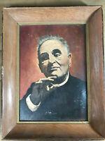 "Vintage Betsy Bailey ""Portrait Of Dr. Bruno Walter"" Oil Painting - Signed/Framed"