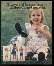 1978 bunny rabbit and girl Cute photo Carter's jumper dress etc vintage print ad