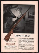 1965 BROWNING High Power Rifle AD Trophy Take ..Vintage Hunting Advertising