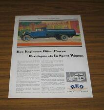 1930 Print Ad REO Speedwagon Oil Delivery Truck Lansing,MI