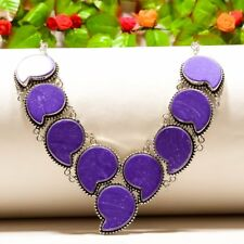 """Exceptional Pasley -  Charoite Ethnic Style Jewelry Necklace 18"""" N-564"""