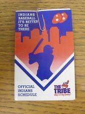 1988 scheda di impianti: Baseball-Cleveland Indians (Pieghevole Stile). eventuali difetti WIT