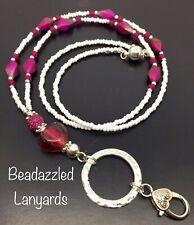 Beaded Lanyard,Necklace,ID Pass Holder,Cruise Pass Lanyard,Security Pass,L51