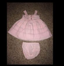 Camilla light pink dress with bloomers, size 9M