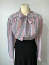 "Vintage Eastex Pussy Bow Secretary Blouse Size 14/16 44"" CD TV Mistress"