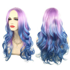 65cm Colorful Long Curly Wig Rainbow Gothic Lolita Cosplay Drag Wavy Wig