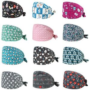 Medicine Scrub Cap Cotton Dentist Surgical Nurse Head Cover Dental Doctor Clinic