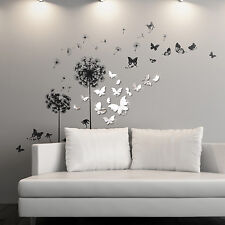 Transparent Nature Wall Stickers Mural Decal Paper Art Decoration Dandelion