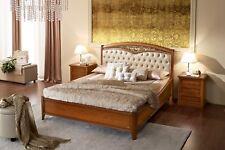 Bett Doppelbett Schlafzimmer Bettgestell Futon Nussbaum Gepolstert Gusseisen