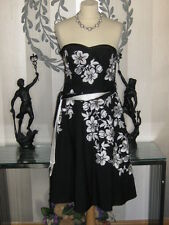 **BRAND NEW** FABULOUS MONSOON BLACK/WHITE/GOLD SPECIAL OCCASION Dress, size 8