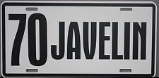 1970 70 JAVELIN METAL LICENSE PLATE AMERICAN MOTORS AMC AMX 390
