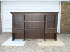 Wood Ash Dresser Display Cabinet Bookcase Glazed doors draws Cupboard