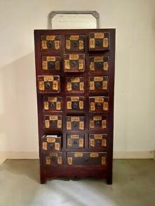 Magnifique meuble d'apothicaire chinois en bois massif - origine Shanxi / 19ème