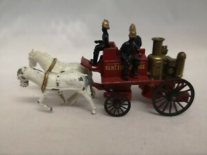 P451-MATCHBOX MODELS OF YESTERYEAR No4 SHAND MASON HORSE DRAWN FIRE ENGINE